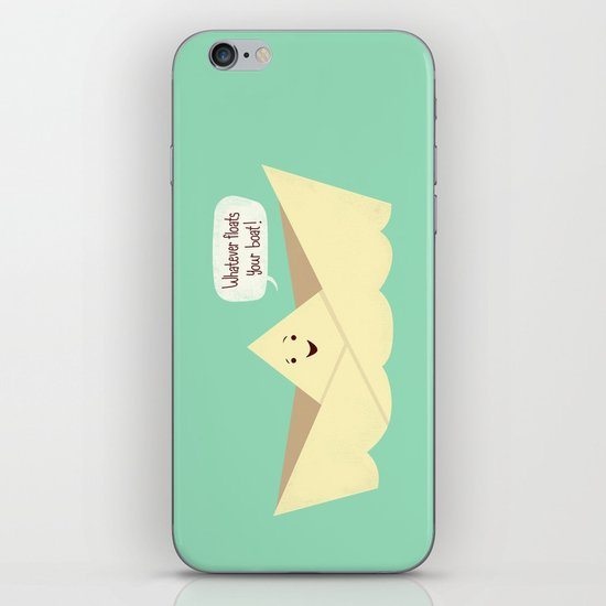 Happy boat iPhone & iPod Skin