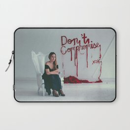 Don't Compromise, Silk Graffiti by Aubrie Costello Laptop Sleeve