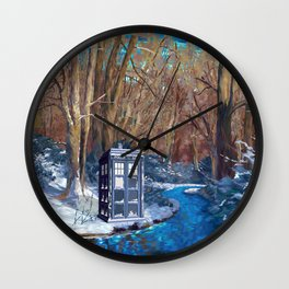 Frozen Tardis Doctor who iPhone 4 5 6 7 8, pillow case, mugs and tshirt Wall Clock