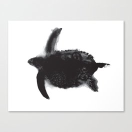 Oil and Wildlife Don't Mix - Turtle Canvas Print