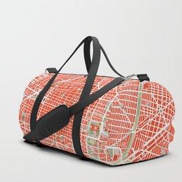 Mexico city map classic Duffle Bag