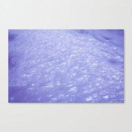 Glittery Ice Canvas Print