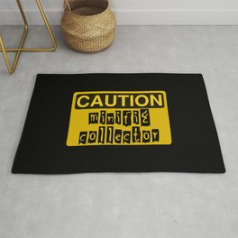 CAUTION MINIFIG COLLECTOR by Chillee Wilson [from Customize My Minifig] Rug