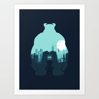 monsters inc Art Prints featuring Welcome To Monsters, Inc. by filiskun