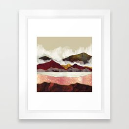 Melon Mountains Framed Art Print