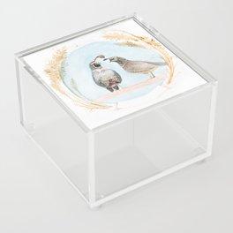 Wedding Quail Acrylic Box