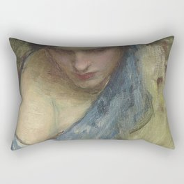 John William Waterhouse - Nymph (skecth for the Nymphs finding the head of Orpheus) Rectangular Pillow