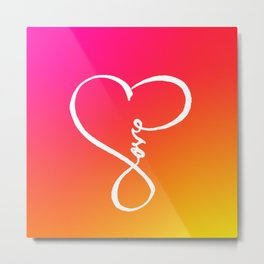You are the Rainbow of my Heart Metal Print