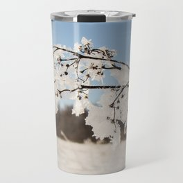 Plant with ice sheets. Travel Mug