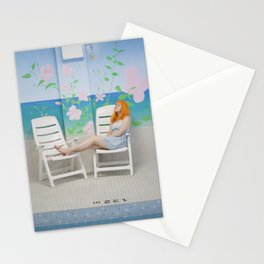 holly as me (indoor pool) Stationery Cards
