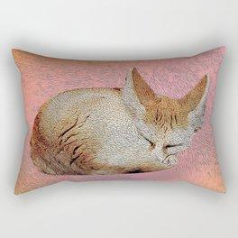 Sleeping fox. Rectangular Pillow