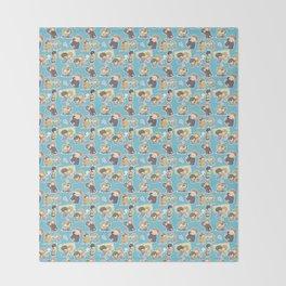 Chibilock Pattern Throw Blanket