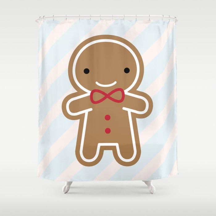 Cookie Cute Gingerbread Man Shower Curtain