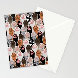 Many Cat Paws Pattern Stationery Cards