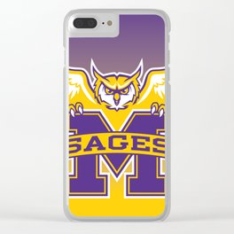 Facing-SagesOwl-Ombre-Chevrons Clear iPhone Case