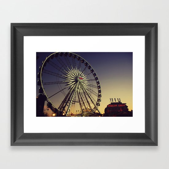 Dusk at the Carnival Framed Art Print