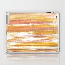 Gold abstract watercolor Laptop & iPad Skin
