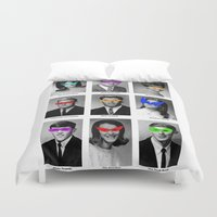 superhero Duvet Covers featuring Superhero Academy by Ismael Sandiego