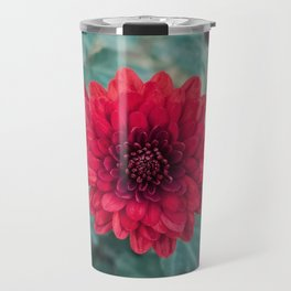 red chrysanths Travel Mug