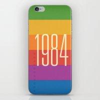 1984 iPhone & iPod Skins featuring 1984 (h) by Dan Rubin