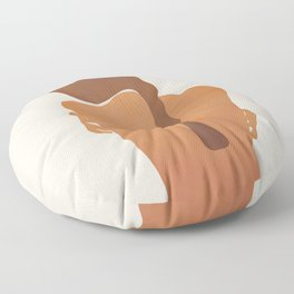 Minimal Female Figure Floor Pillow