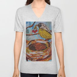 La Belle Bird & Nest Unisex V-Neck