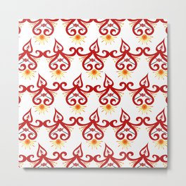 Firery Sprite Pattern Metal Print