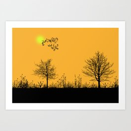 Orange panorama Art Print
