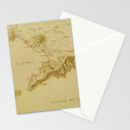 Map of Naples 1819 Stationery Cards