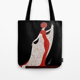 "Art Deco Fashion Design ""Alphabet Cloak"" Tote Bag"