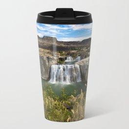 Waterfall Photography - Shoshone Falls Idaho Metal Travel Mug