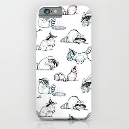 Coon Comic Pattern iPhone Case