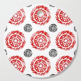Sun mandala pattern Cutting Board