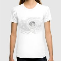 clouds T-shirts featuring Moon Glow by brenda erickson