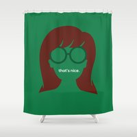"""daria Shower Curtains featuring The Daria - """"That's Nice"""" by Stevie NYC"""