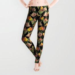 Vintage Floral Pattern | No. 3A | Tulips Leggings