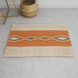 Southwestern Earth Tone Texture Design Rug