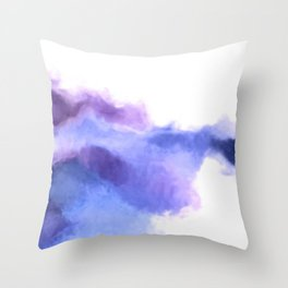 Purple Sky, White Light - abstract Throw Pillow