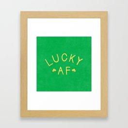 Lucky AF Framed Art Print
