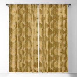 Zen Circles Block Print In Gold Blackout Curtain