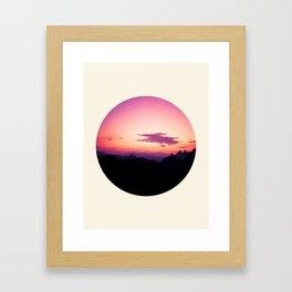 Fuchsia & Purple Sunset Mountains Framed Art Print