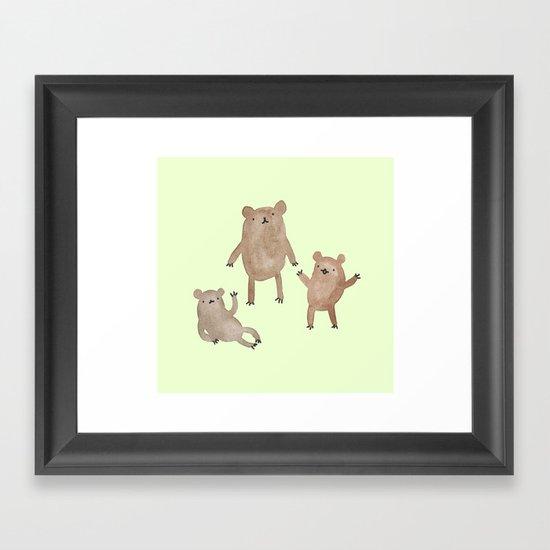 Three Bears Framed Art Print