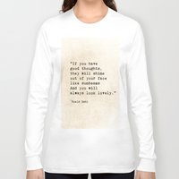 roald dahl Long Sleeve T-shirts featuring Roald Dahl Lovely Quote by ShadeTree Photography
