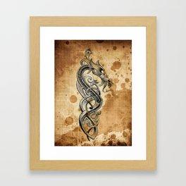 Celtic  tattoo design Framed Art Print