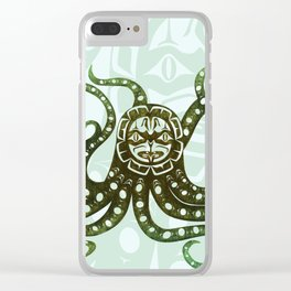 Giant Pacific Octopus Clear iPhone Case