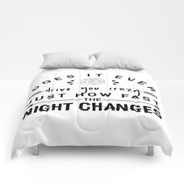 Night Changes Comforters