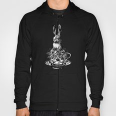 Rabbit in a Teacup | Black and White Hoody