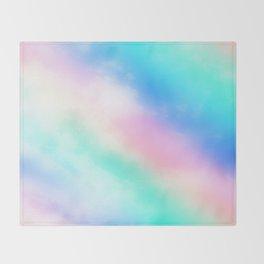 Rainbow Pastel Throw Blanket