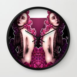 Recluse (Diptych) Wall Clock