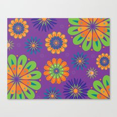 Psychoflower Purple Canvas Print